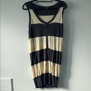 H&M Vintage Striped Sleeveless Knit Dress